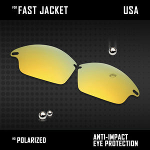 Anti Scratch Polarized Replacement Lenses for-Oakley Fast Jacket OO9097 Options
