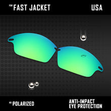 Load image into Gallery viewer, Anti Scratch Polarized Replacement Lenses for-Oakley Fast Jacket OO9097 Options