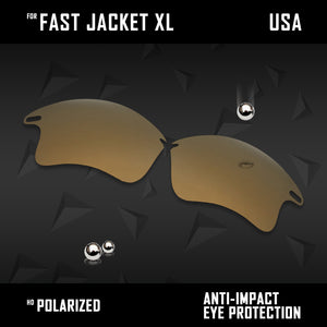 Anti Scratch Polarized Replacement Lenses for-Oakley Fast Jacket XL OO9156 Opt