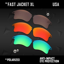 Load image into Gallery viewer, Anti Scratch Polarized Replacement Lenses for-Oakley Fast Jacket XL OO9156 Opt