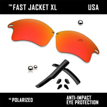 将图片加载到图库查看器,Anti Scratch Replacement Lenses & Rubber Kits for-Oakley Fast Jacket XL OO9156