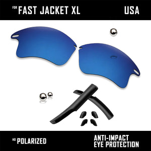 Anti Scratch Replacement Lenses & Rubber Kits for-Oakley Fast Jacket XL OO9156