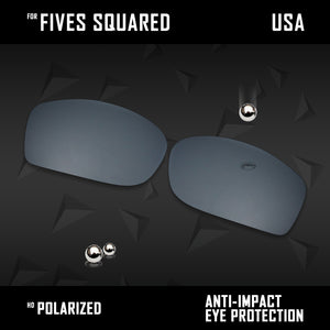 Anti Scratch Polarized Replacement Lenses for-Oakley Fives Squared Options