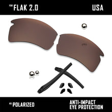 Load image into Gallery viewer, Anti Scratch Polarized Replacement Lens & Rubber Kits for-Oakley Flak 2.0 OO9295