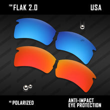 Load image into Gallery viewer, Anti Scratch Polarized Replacement Lenses for-Oakley Flak 2.0 OO9295 Options