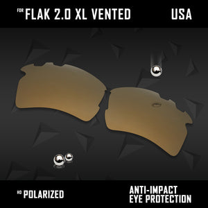Anti Scratch Polarized Replacement Lens for-Oakley Flak 2.0 XL Vented OO9188 Opt