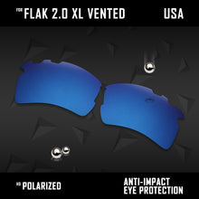 Load image into Gallery viewer, Anti Scratch Polarized Replacement Lens for-Oakley Flak 2.0 XL Vented OO9188 Opt