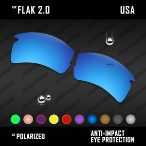 Anti Scratch Polarized Replacement Lenses for-Oakley Flak 2.0 OO9295 Options