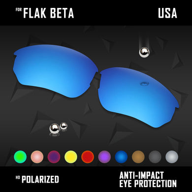 Anti Scratch Polarized Replacement Lenses for-Oakley Flak Beta OO9363 Options