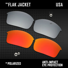Load image into Gallery viewer, Anti Scratch Polarized Replacement Lenses for-Oakley Flak Jacket OO9097 Options