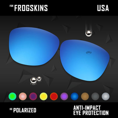 Anti Scratch Polarized Replacement Lenses for-Oakley Frogskins OO9013 Options