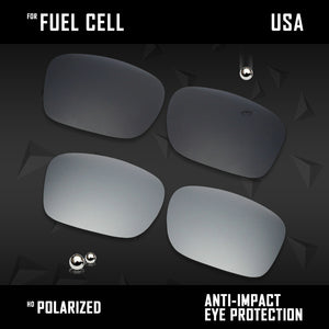 Anti Scratch Polarized Replacement Lenses for-Oakley Fuel Cell OO9096 Options
