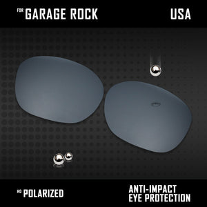 Anti Scratch Polarized Replacement Lenses for-Oakley Garage Rock OO9175 Options