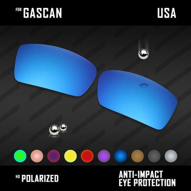 Anti Scratch Polarized Replacement Lenses for-Oakley Gascan OO9014 Options