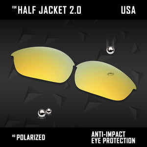 Anti Scratch Polarized Replacement Lenses for-Oakley Half Jacket 2.0 OO9144 Opt