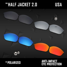 Load image into Gallery viewer, Anti Scratch Polarized Replacement Lenses for-Oakley Half Jacket 2.0 OO9144 Opt