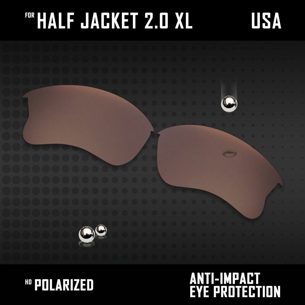 Anti Scratch Polarized Replacement Lens for-Oakley Half Jacket 2.0 XL OO9154 Opt