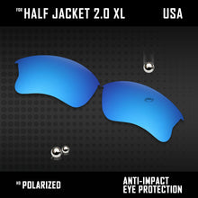 Load image into Gallery viewer, Anti Scratch Polarized Replacement Lens for-Oakley Half Jacket 2.0 XL OO9154 Opt