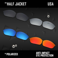 Load image into Gallery viewer, Anti Scratch Polarized Replacement Lenses for-Oakley Half Jacket Options