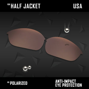 Anti Scratch Polarized Replacement Lenses for-Oakley Half Jacket Options