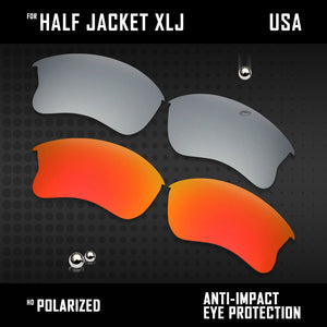 Anti Scratch Polarized Replacement Lenses for-Oakley Half Jacket XLJ Options