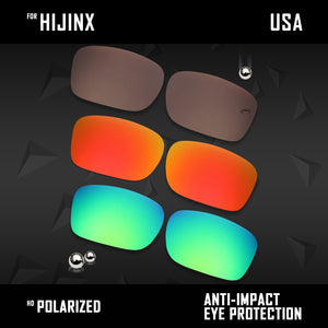 Anti Scratch Polarized Replacement Lenses for-Oakley Hijinx OO9021 Options