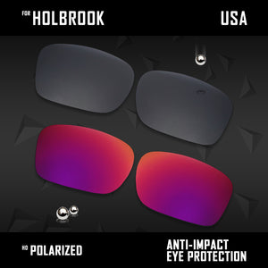 Anti Scratch Polarized Replacement Lenses for-Oakley Holbrook OO9102 Options