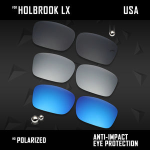 Anti Scratch Polarized Replacement Lenses for-Oakley Holbrook LX OO2048 Options