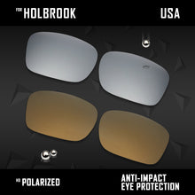 Load image into Gallery viewer, Anti Scratch Polarized Replacement Lenses for-Oakley Holbrook OO9102 Options