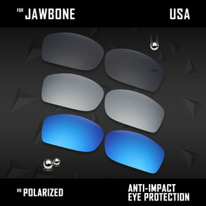 Anti Scratch Polarized Replacement Lenses for-Oakley Jawbone Options