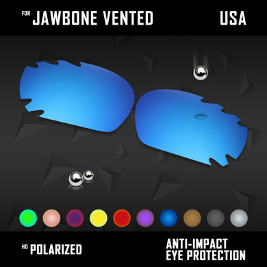 Anti Scratch Polarized Replacement Lenses for-Oakley Jawbone Vented Options