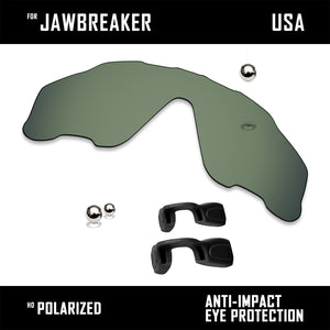 Anti Scratch Polarized Replacement Lens&Rubber Kits for-Oakley Jawbreaker OO9290