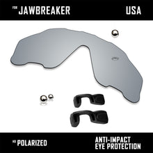 Load image into Gallery viewer, Anti Scratch Polarized Replacement Lens&Rubber Kits for-Oakley Jawbreaker OO9290