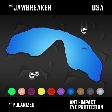 Anti Scratch Polarized Replacement Lenses for-Oakley Jawbreaker OO9290 Options