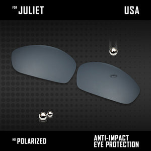 Anti Scratch Polarized Replacement Lenses for-Oakley Juliet Options