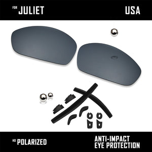 Anti Scratch Polarized Replacement Lenses & Rubber Kits for-Oakley Juliet