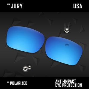 Anti Scratch Polarized Replacement Lenses for-Oakley Jury OO4045 Options