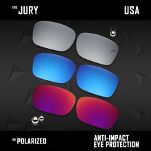 Load image into Gallery viewer, Anti Scratch Polarized Replacement Lenses for-Oakley Jury OO4045 Options
