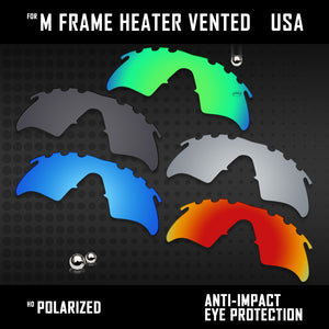 Anti Scratch Polarized Replacement Lenses for-Oakley M Frame Heater Vented Opt