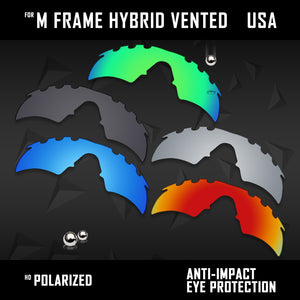 Anti Scratch Polarized Replacement Lenses for-Oakley M Frame Hybrid Vented Opt