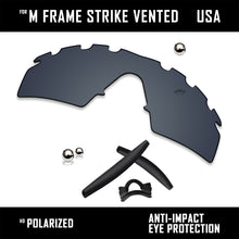 Load image into Gallery viewer, Anti Scratch Replacement Lenses & Rubber Kits for-Oakley M Frame Strike Vented