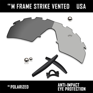 Anti Scratch Replacement Lenses & Rubber Kits for-Oakley M Frame Strike Vented