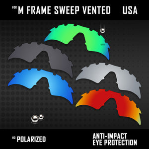 Anti Scratch Polarized Replacement Lenses for-Oakley M Frame Sweep Vented Opt