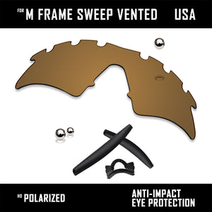 Anti Scratch Replacement Lenses & Rubber Kits for-Oakley M Frame Sweep Vented