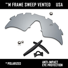 Load image into Gallery viewer, Anti Scratch Replacement Lenses & Rubber Kits for-Oakley M Frame Sweep Vented