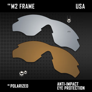 Anti Scratch Polarized Replacement Lenses for-Oakley M2 Frame OO9212 Options