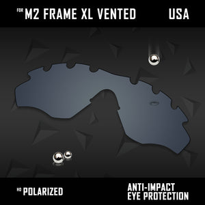 Anti Scratch Polarized Replacement Lens for-Oakley M2 Frame XL Vented OO9343 Opt