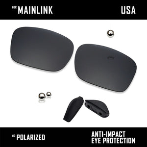 Anti Scratch Polarized Replacement Lenses&Rubber Kits for-Oakley Mainlink OO9264