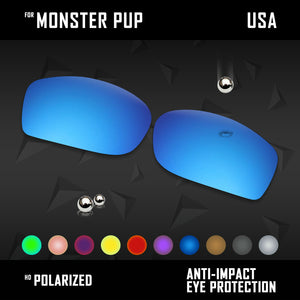 Anti Scratch Polarized Replacement Lenses for-Oakley Monster Pup Options