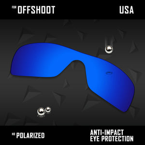 Anti Scratch Polarized Replacement Lenses for-Oakley Offshoot OO9190 Options